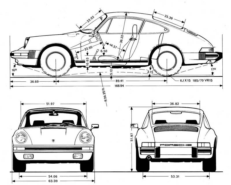 Anyone got a dimensioned side view drawing of a 911