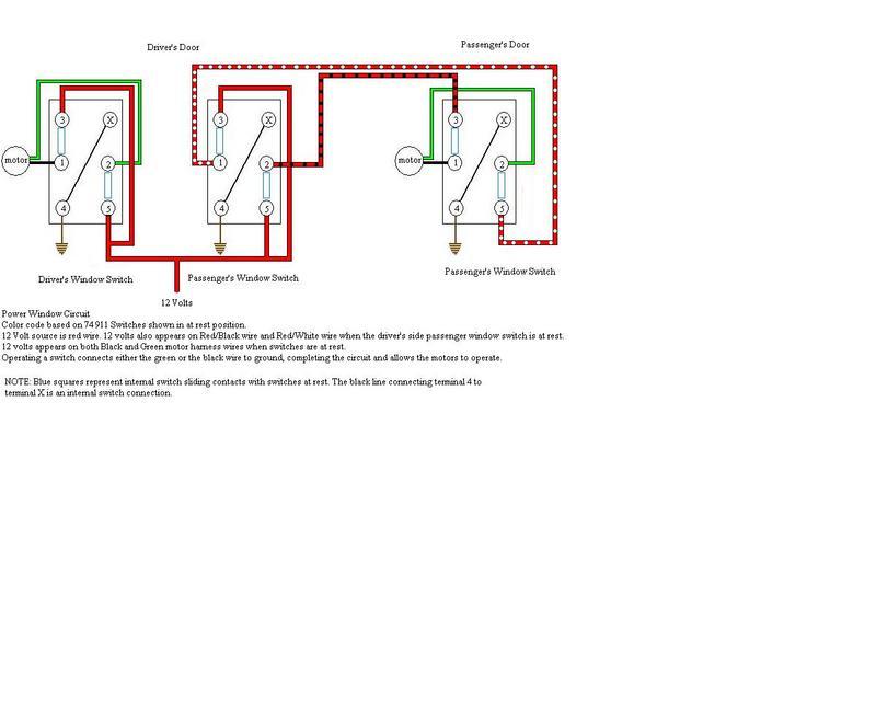 Power window switch wiring diagram manual for 1999 pontiac grand prix power window switch