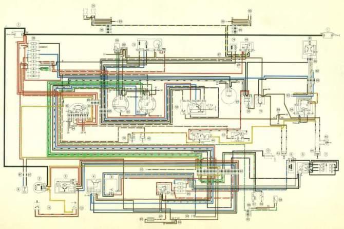 1975 porsche 911 wiring diagram  schematic wiring diagram
