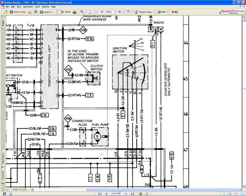porsche 911 ignition switch wiring diagram