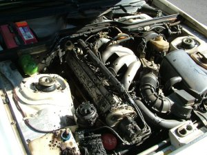 vacuum diagram sticker in engine bay, for 944 NA