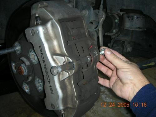 small resolution of  warning contact wire on the brake caliper and remove the warning contacts from the brake pad plates once the pin is out break the sensor wires its
