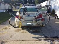 Home made tandem bike rack/fuji tandem