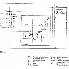 Draw The Tracing Panel Wiring Diagram Of An Alternator Honeywell Dt90e Room Thermostat Diodes How Test If They Are Blown Fix It