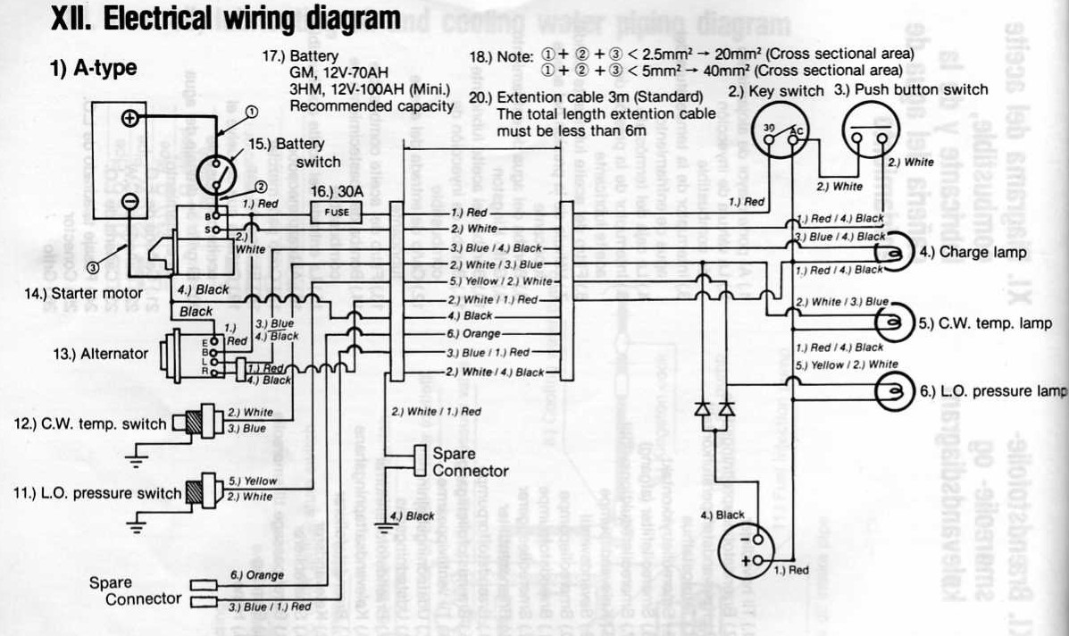 Marine Alternator Wiring Diagram Red Black Blue Orange