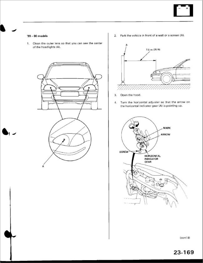 Headlight adjustment on 99-00 Civic- trinituner.com