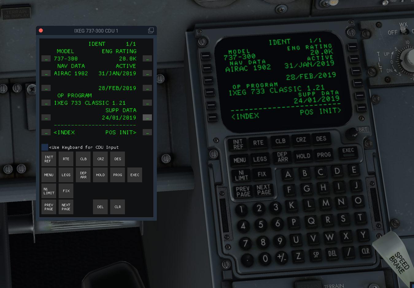 Window CDU for IXEG 737-300 - Plugins and Utilities - X-Pilot