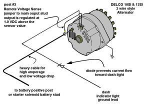 Alternator conversion for 312 YBlock Mercury