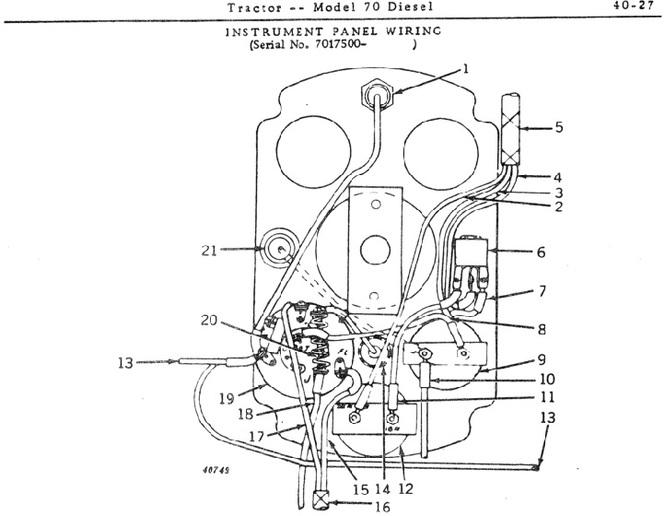 Please help. wiring diagram 1955 70 diesel with gas pup