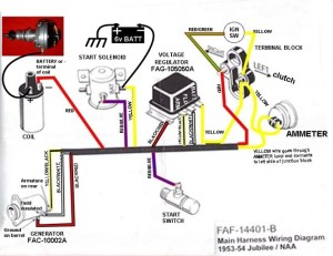53 Ford Jubilee wiring diagram  Ford Forum  Yesterday's