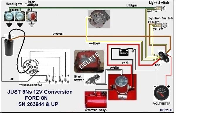 ford jubilee wiring diagram 2003 honda vtx 1300 12 volt conversion question - 9n, 2n, 8n forum yesterday's tractors