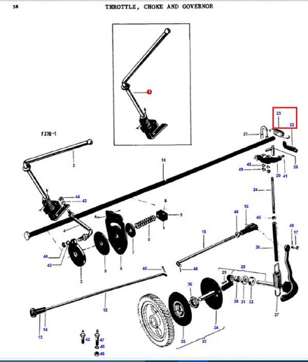 Massey Ferguson 35 Throttle Assembly