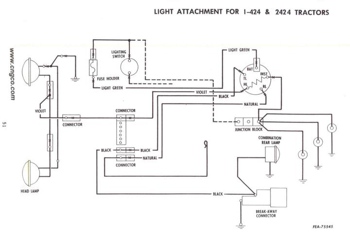 424 international tractor wiring diagram