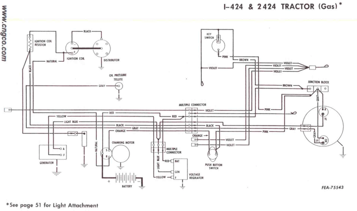 ih 340 tractor key switch wiring diagrams