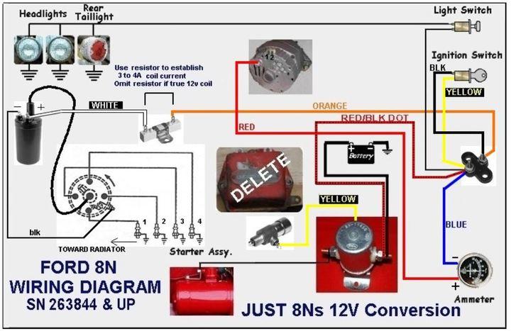 12 volt conversion wiring diagram for 8n