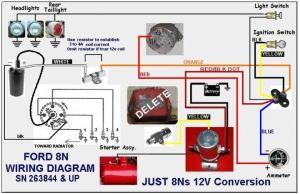 New headlights wiring diagram  Ford 9N, 2N, 8N Forum