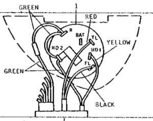 1967 John Deere 4020 light switch wiring  John Deere