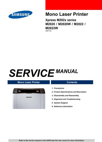 Manual de Serviço Samsung Xpress M202x Séries M2020 M2020W M2022 M2022W - Manual de Serviço - Fórum Sulink | Impressoras. Reseters. Manuais ...