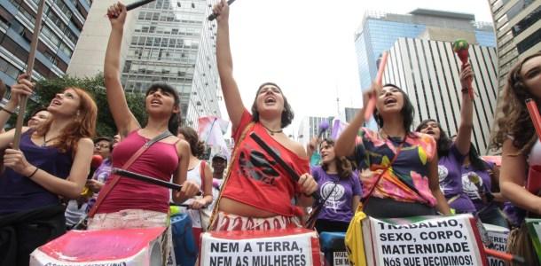 Marcha Mundial das Mulheres na Jornada Continental pela Democracia e contra o Neoliberalismo