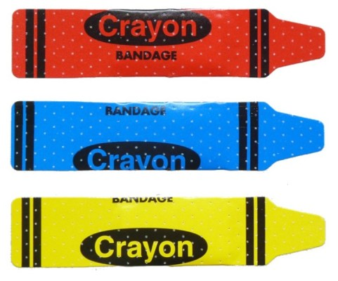 Crayon plasters, £14.50