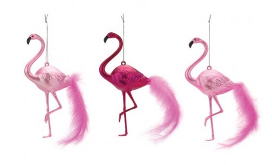 Flamingo decorations, £10