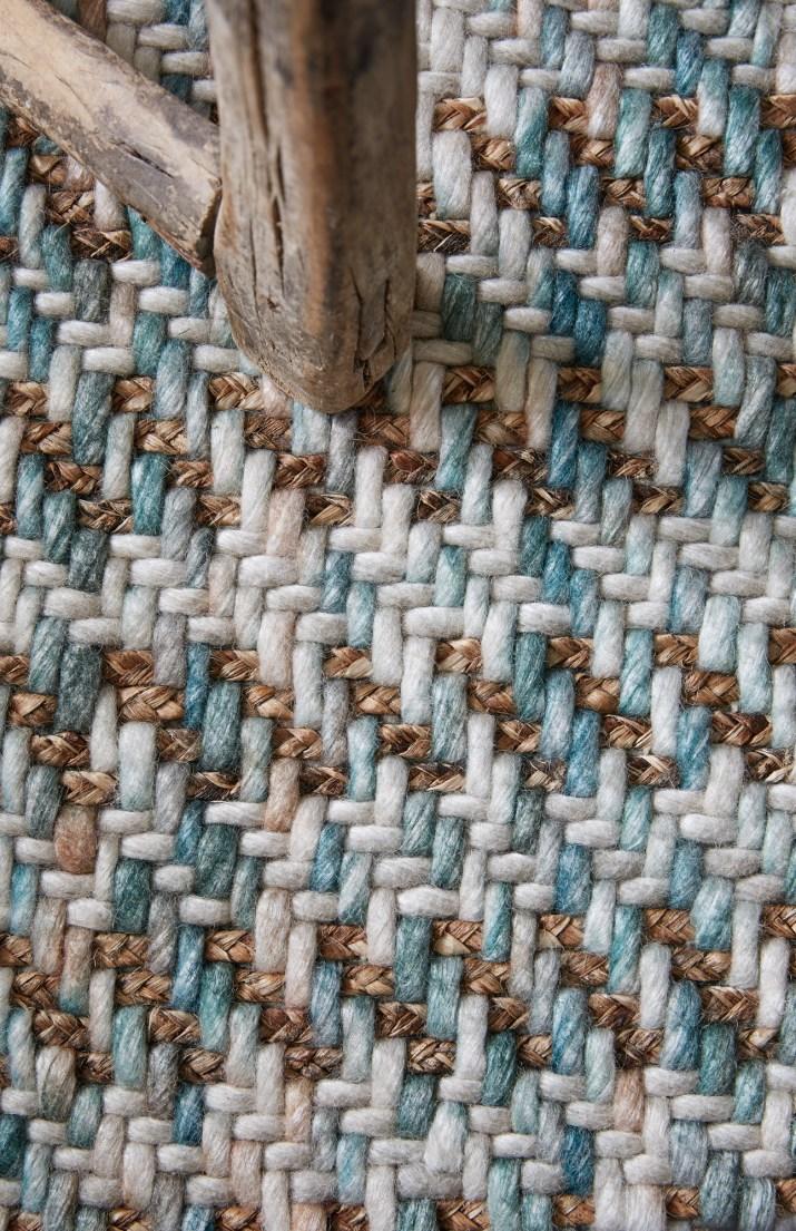 Flock Sinclair wool + plant fibre rug in Gordon (detail) low res