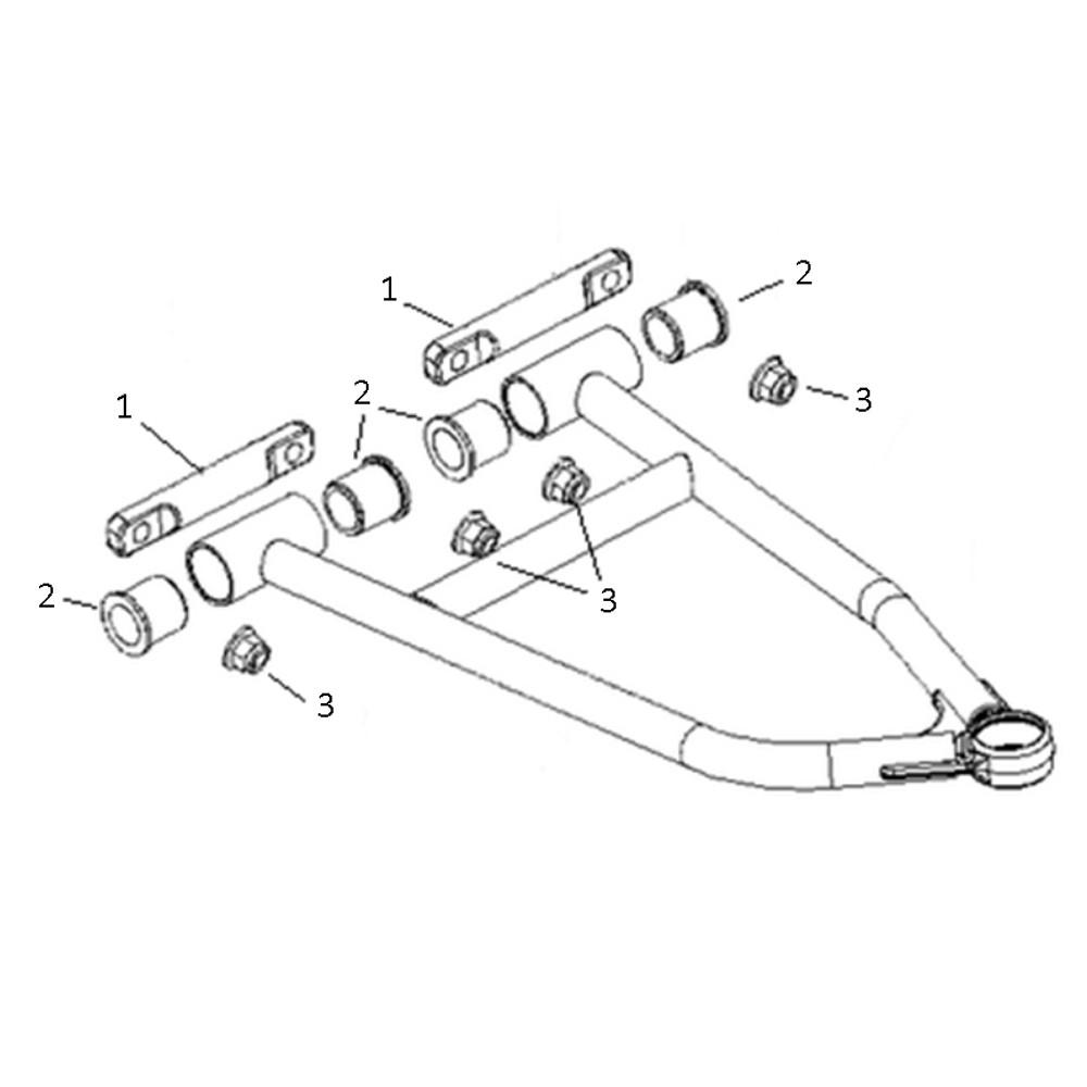 SPI SM-08276 Upper A-Arm Bushing Kit for Polaris 600 & 800