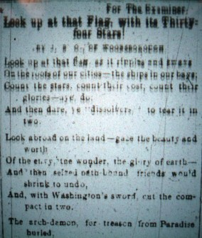 First part of poem from Frederick Examiner