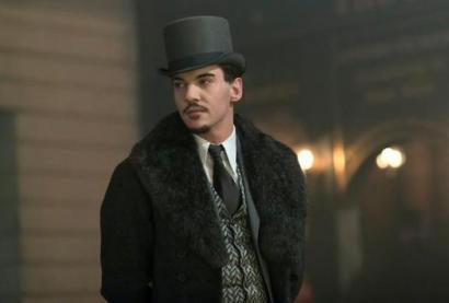 Dracula in top hat and fur coat
