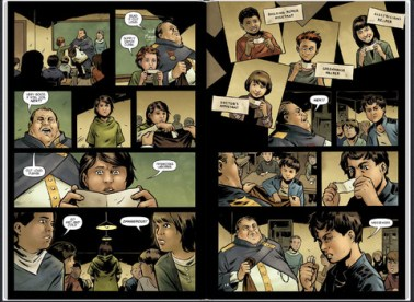 A page from Niklas Asker's graphic novel adaptation
