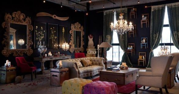 Steampunk-Living-Room-Decor