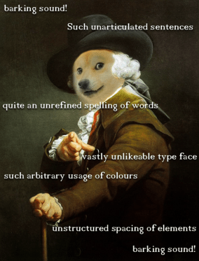 "reference to ""Doge"" meme popular in 2013"