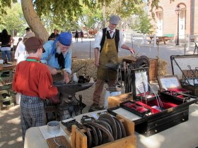 Blacksmith shop living history display
