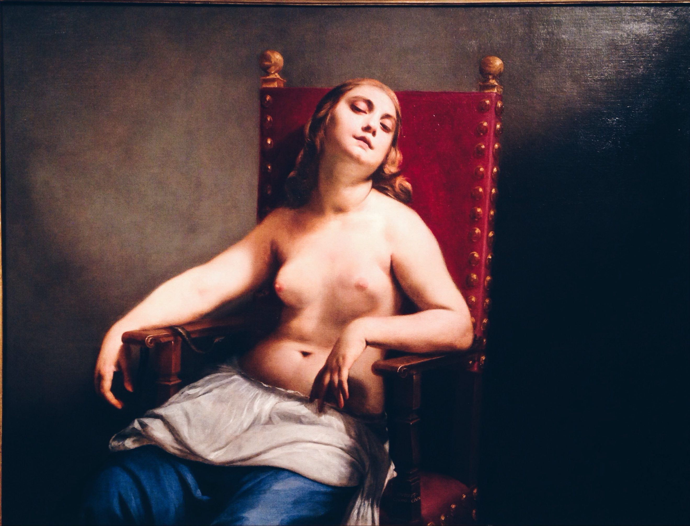 Dying Cleopatra by Guido Cagnacci