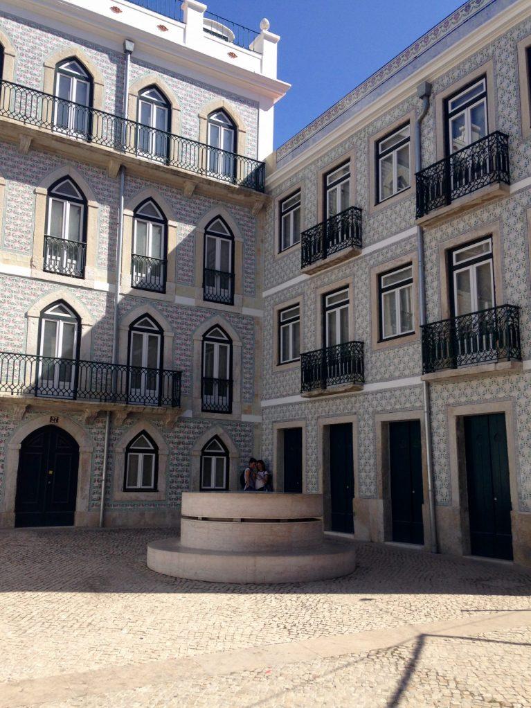 Portugal Wine Travel Guide. Streets of Lisbon. Azulejo