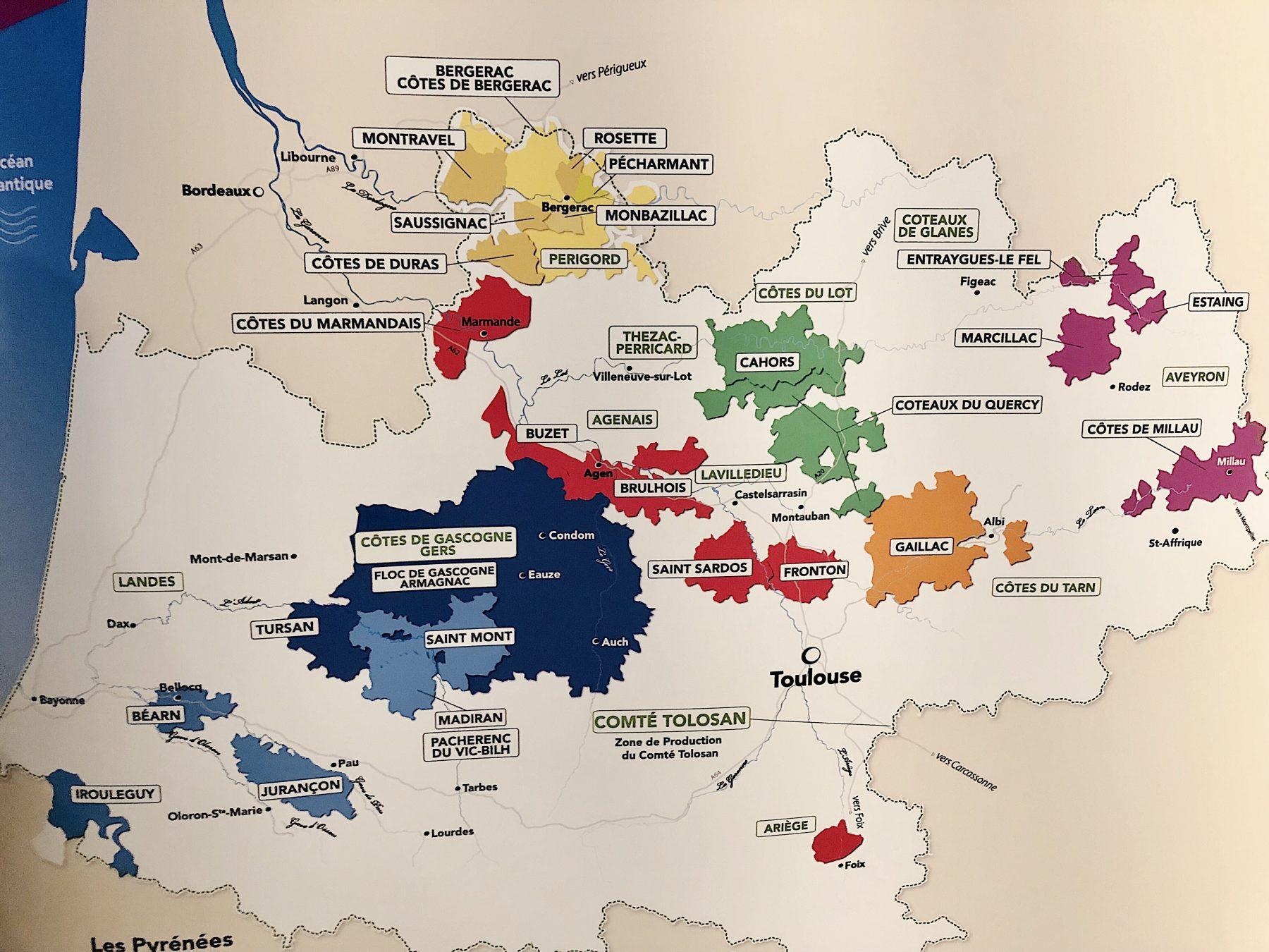 The Undiscovered France: Sud-Ouest & Jurançon Sec # ... |Southwest France Map