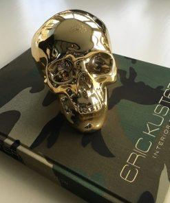 Money skull spaarpot - goud
