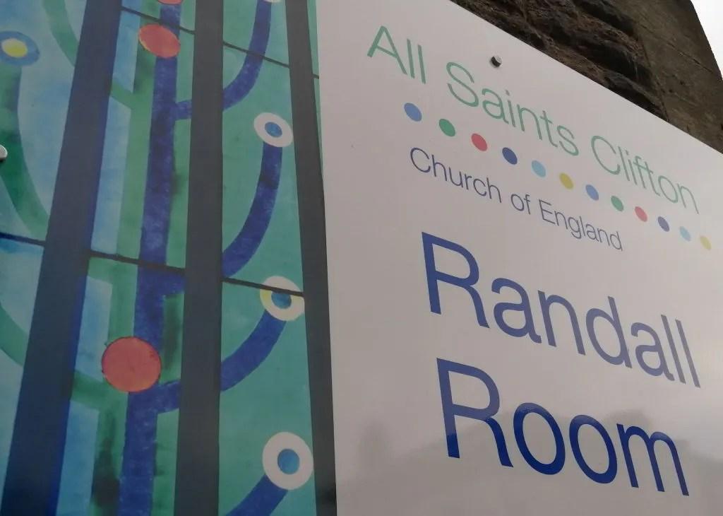 Randall Room, All Saints Church, Clifton, the venue for FOSBR AGM 2020