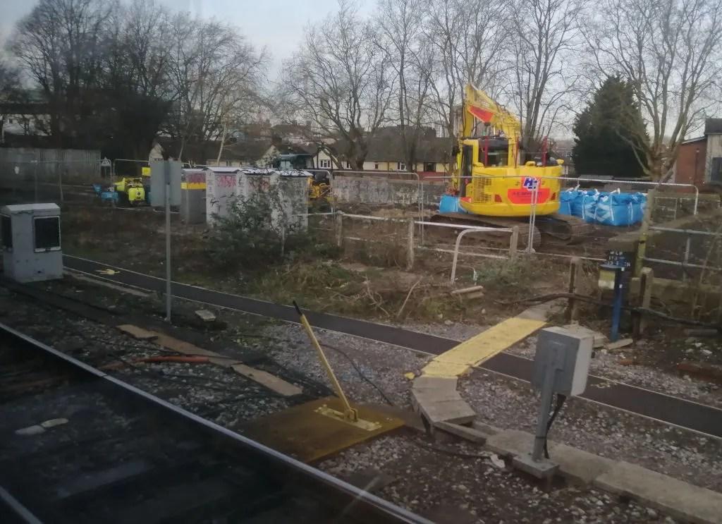Preparatory work underway at Bristol East Junction, Feb 2020