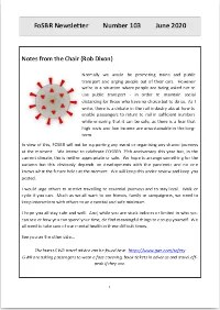 Front page of Newsletter 103