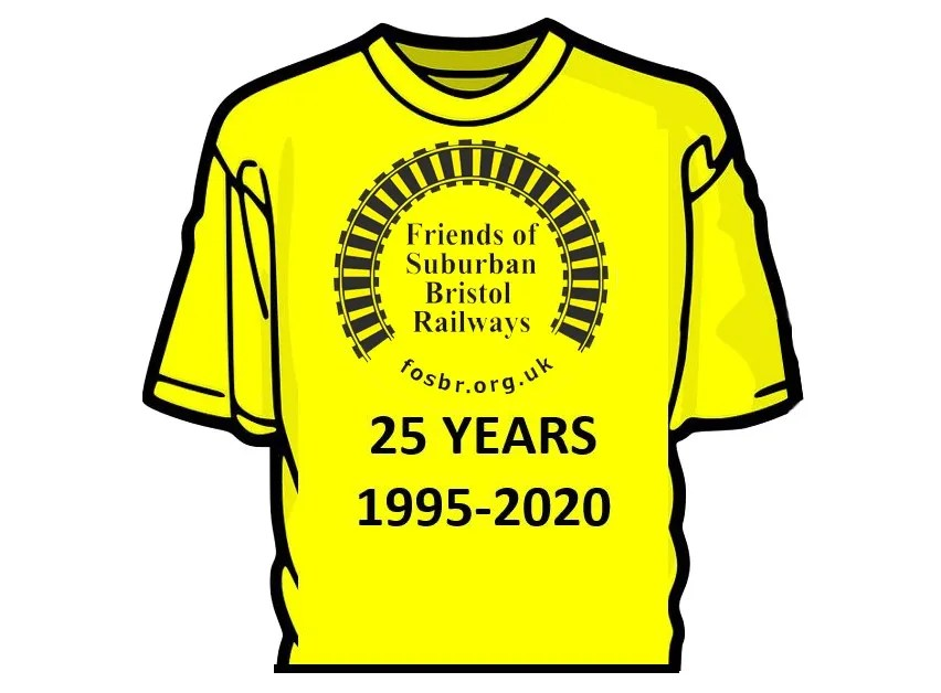 FOSBR 25 year celebration t-shirt - only £10!