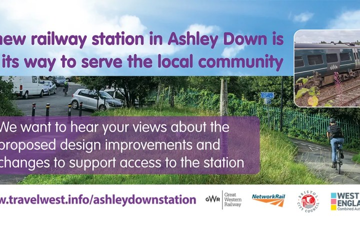 Bristol City Council social media slide for Ashley Hill station engagement