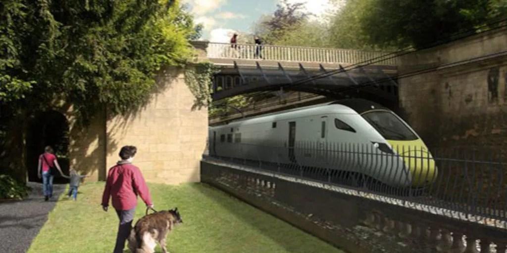 Proposed electrification scheme - Sydney Gardens, Bath