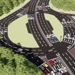 Siston Hill Roundabout,part of £30 million scheme to 'improve' A4174