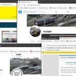 How FosBR uses media - screenshot of website, facebook, twitter, email