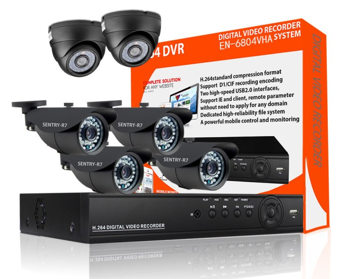 4 Indoor/Outdoor & 2 Dome CCTV