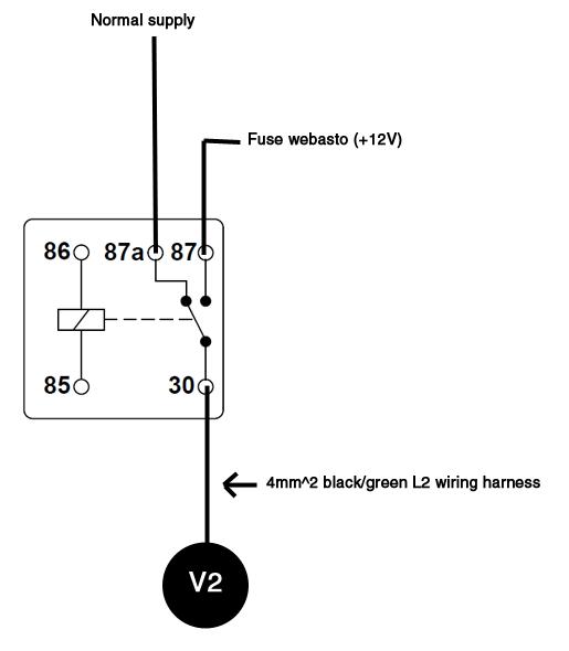a6 '00 2.7t parking heater wiring