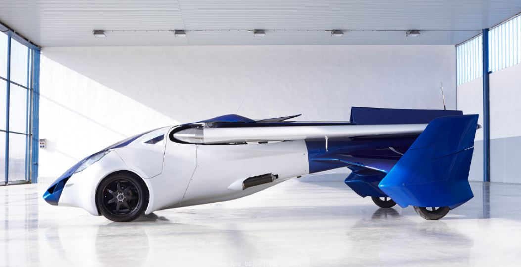 the flying car coming