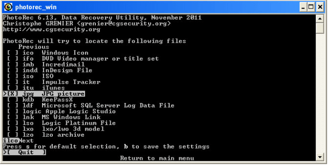 PhotoRec-Best Free Data Recovery Tools