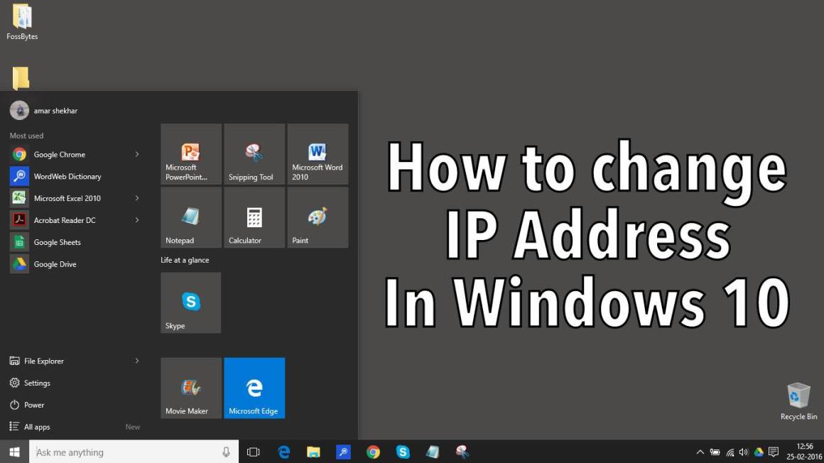 IP-адрес Windows 10